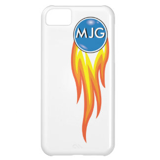 Flaming Fireball Personalized Initials iPhone 5C Case
