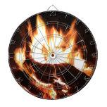 Flaming Fireplace Design Dartboards