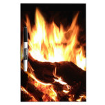 Flaming Fireplace Design Dry-Erase Whiteboards