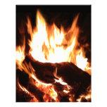 Flaming Fireplace Design Letterhead Design