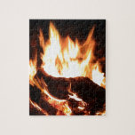 Flaming Fireplace Design Puzzle