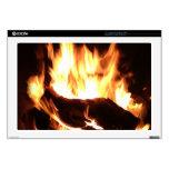 "Flaming Fireplace Design Skins For 17"" Laptops"