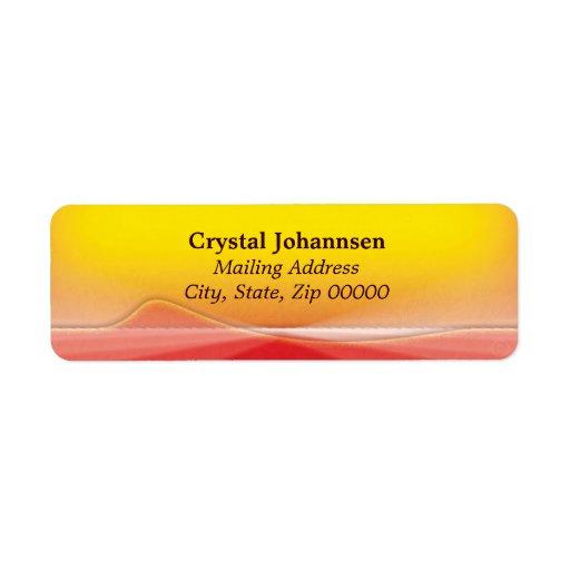 flaming floral ~ mailing label return address label