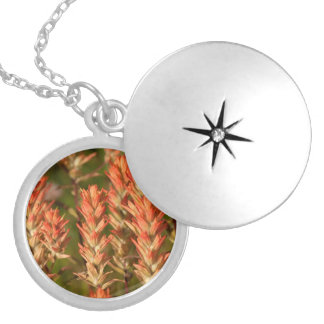 Flaming Flowers Round Locket Necklace