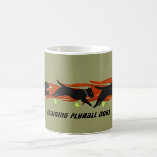 Flaming Flyball Dogs Classic White Coffee Mug