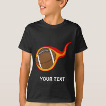 flaming football ball T-Shirt
