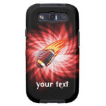 Flaming Football; Red Galaxy S3 Cover