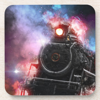 Flaming Freight Train Beverage Coaster