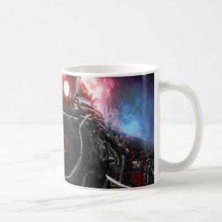 Flaming Freight Train Coffee Mug
