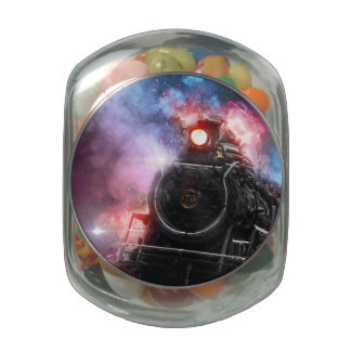 Flaming Freight Train Jelly Belly Candy Jar
