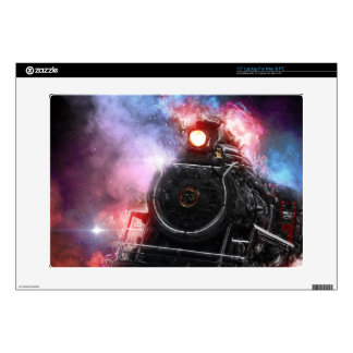 Flaming Freight Train Laptop Decal