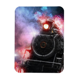 Flaming Freight Train Magnet