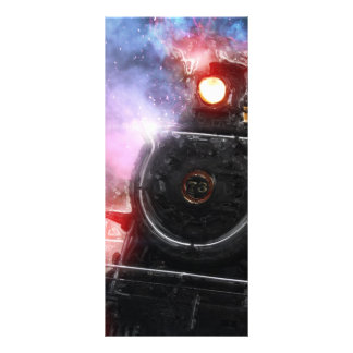 Flaming Freight Train Rack Card