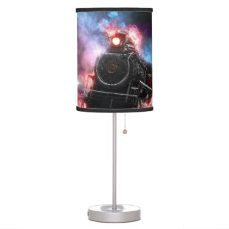 Flaming Freight Train Table Lamp
