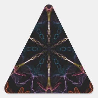 Flaming Geek Triangle Sticker