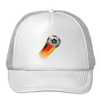 Flaming Germany Soccer Ball Hat