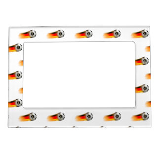 Flaming Germany Soccer Ball Magnetic Picture Frames