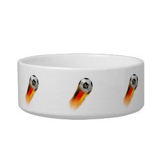 Flaming Germany Soccer Ball Cat Water Bowl