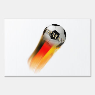 Flaming Germany Soccer Ball Lawn Sign