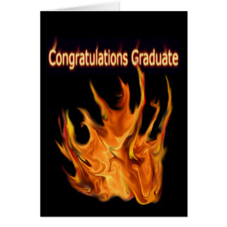 Flaming Graduation Greeting Card