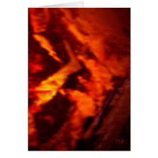Flaming Granite Card