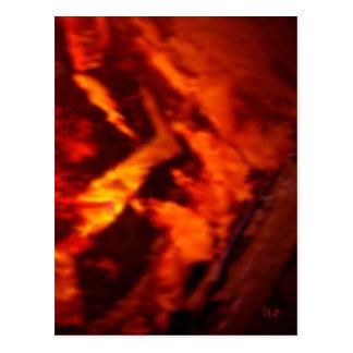 Flaming Granite Postcard