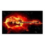 Flaming Guitar Business Card