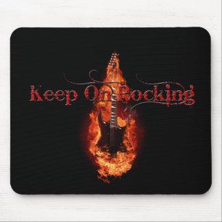 Flaming Guitar Mousemats