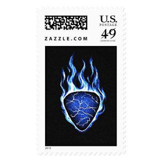 Flaming Guitar Pick Postage