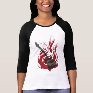 Flaming Guitar T-shirt