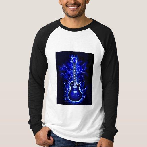 Flaming Guitar Tee