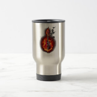 Flaming Guitar Travel Mug
