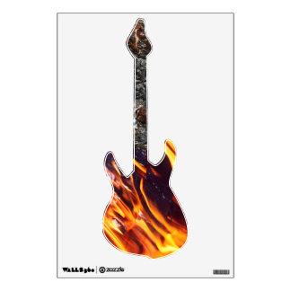 Flaming Guitar Wall Sticker