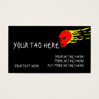Flaming Head Business Card