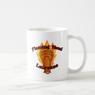 Flaming Head Lacrosse Classic White Coffee Mug