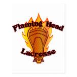 Flaming Head Lacrosse Postcard