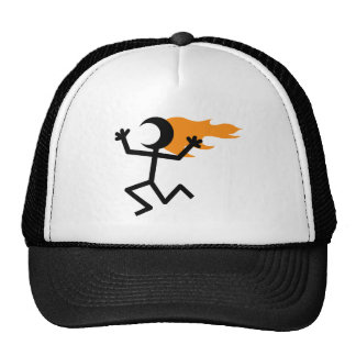 Flaming Head Trucker Hat