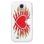 Flaming-Heart-001 Galaxy S4 Cover