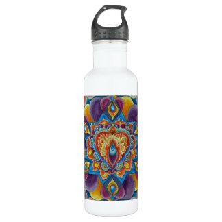 Flaming Heart 24oz Water Bottle