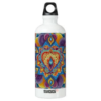 Flaming Heart Aluminum Water Bottle