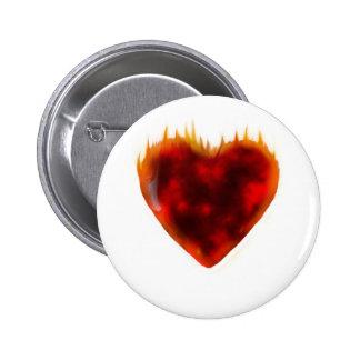 Flaming Heart Button