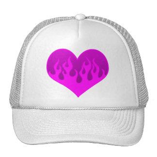 Flaming Heart Design Hats