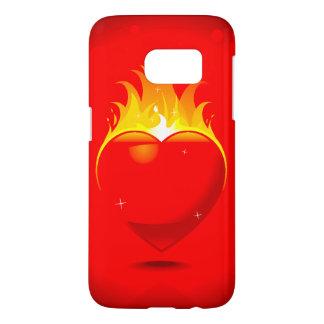 Flaming Heart Design Samsung Galaxy S7