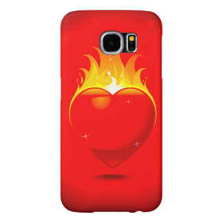 Flaming Heart DesignSamsung Galaxy S6 Samsung Galaxy S6 Cases