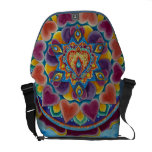 Flaming Heart Mandala Rickshaw Messenger Bag