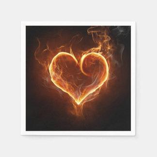 Flaming Heart Napkin