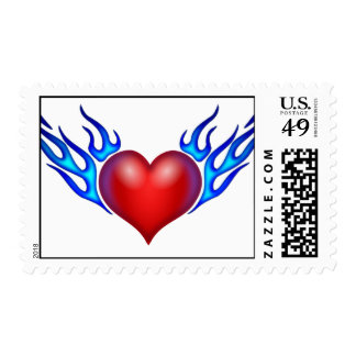 Flaming Heart Postage