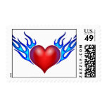 Flaming Heart Postage Stamp