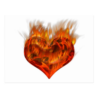 Flaming heart! postcard