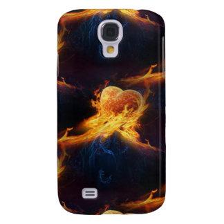 Flaming Heart Samsung Galaxy S4 Case